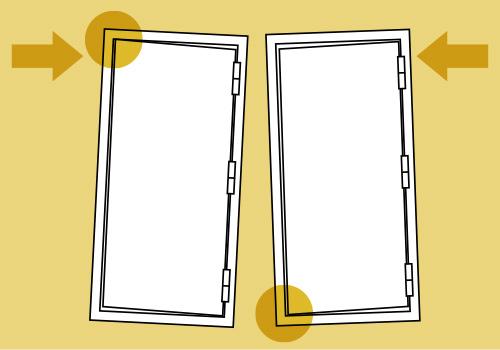 地震発生時、ドアの変形による閉じ込めを防ぐ「耐震枠付玄関ドア」