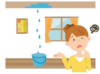 雨漏りなどで部屋の一部が使えなくなった場合、賃料が減額される。賃借人は賃料の支払いを拒否することはできない。
