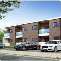 「ソラコート・コウシ」初期投資を低減したエントランスのある木造2階建賃貸アパート